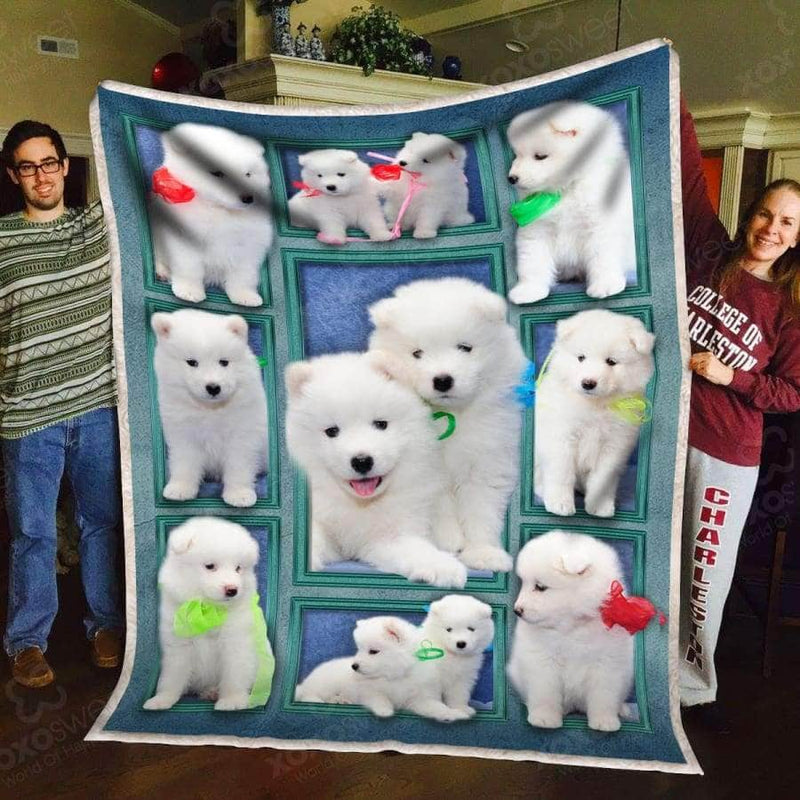 Samoyed Puppy Blanket