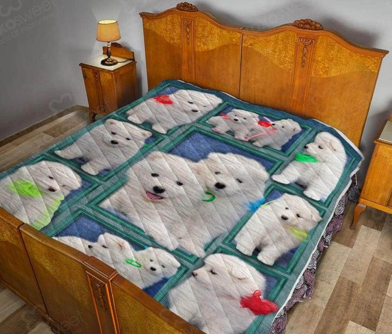 Samoyed Puppy Quilt