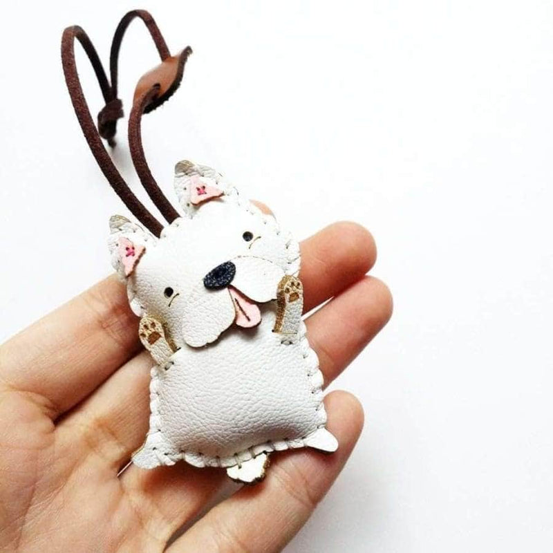 SCHNAUZIE HANDMADE LEATHER CHARM
