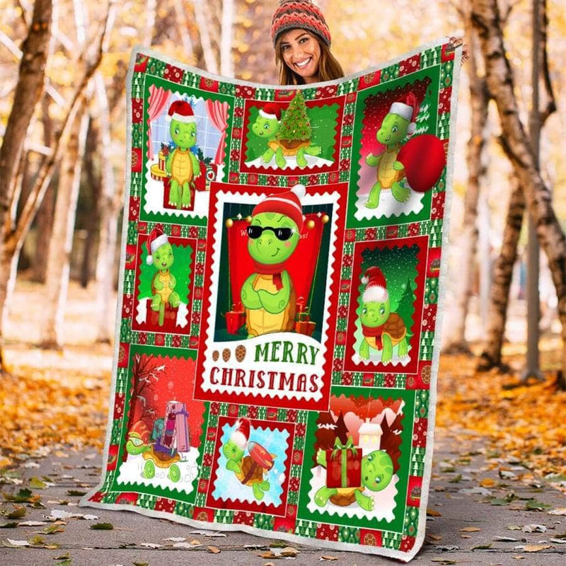 Sea Turtle Merry Xmas - Blanket