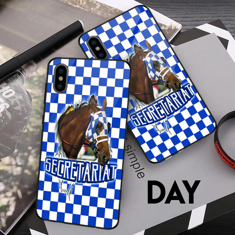 Secretariat Horse Glowing Phone Case