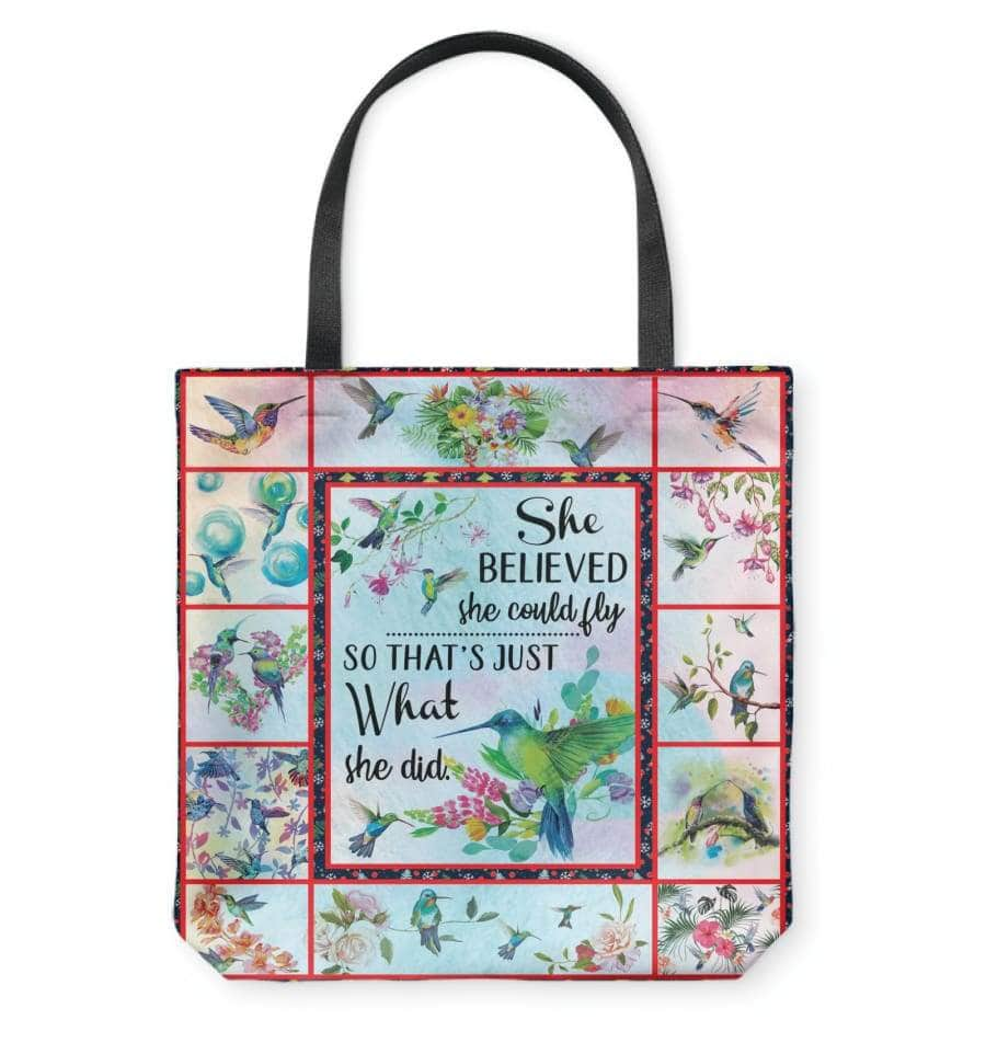 She could fly Tote 2-sided printing