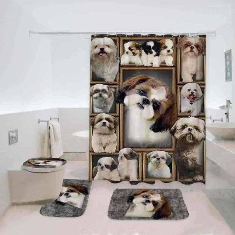 Shih Tzu Bathroom Set