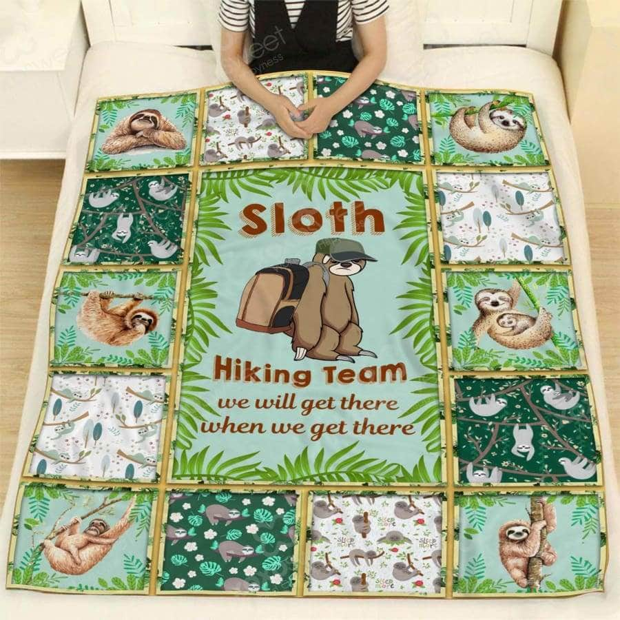 Sloth Hiking Team- Blanket