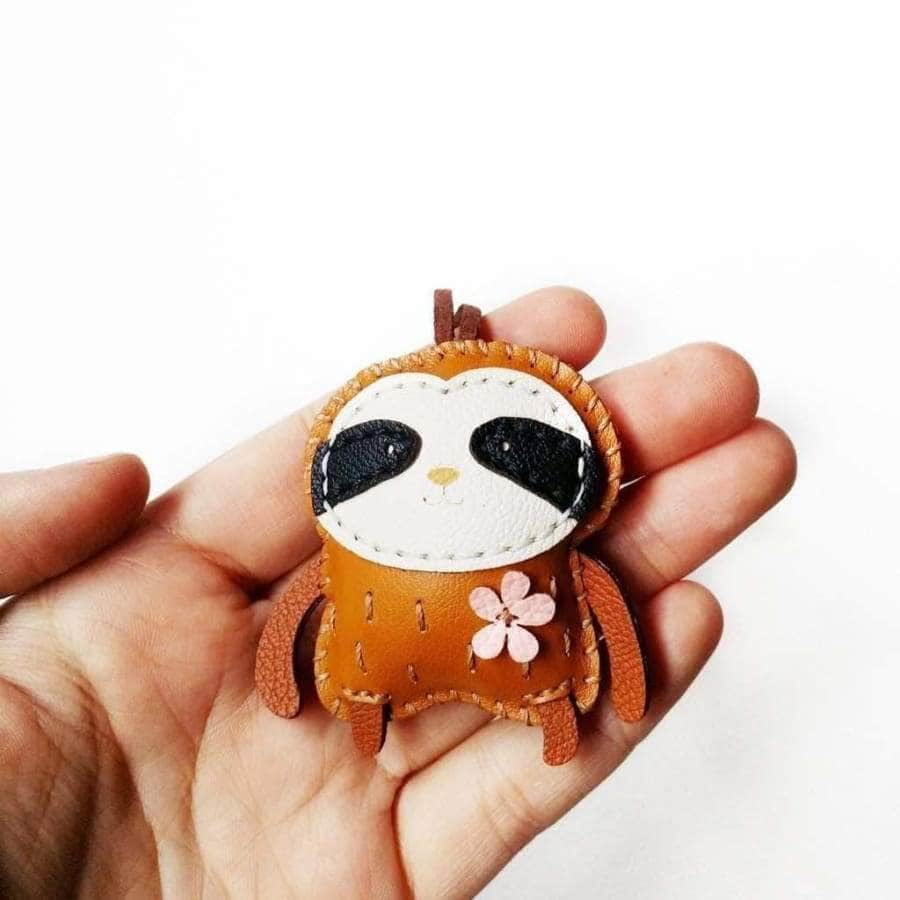 Slothie Handmade Leather Charm