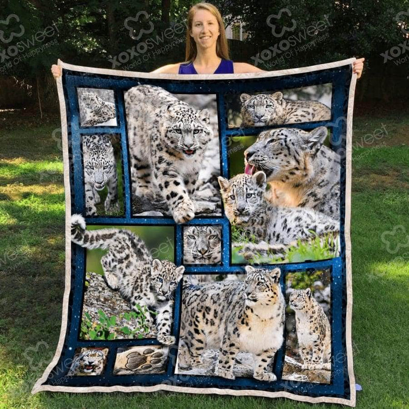 Snow Leopard and Leopard Baby Blanket