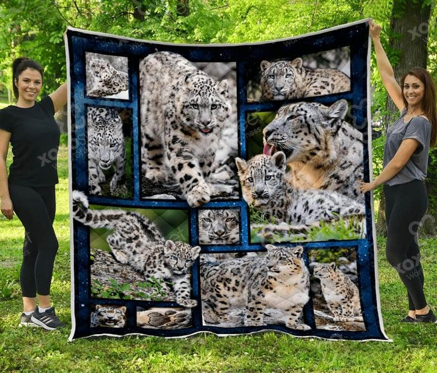 Snow Leopard and Leopard Baby Quilt