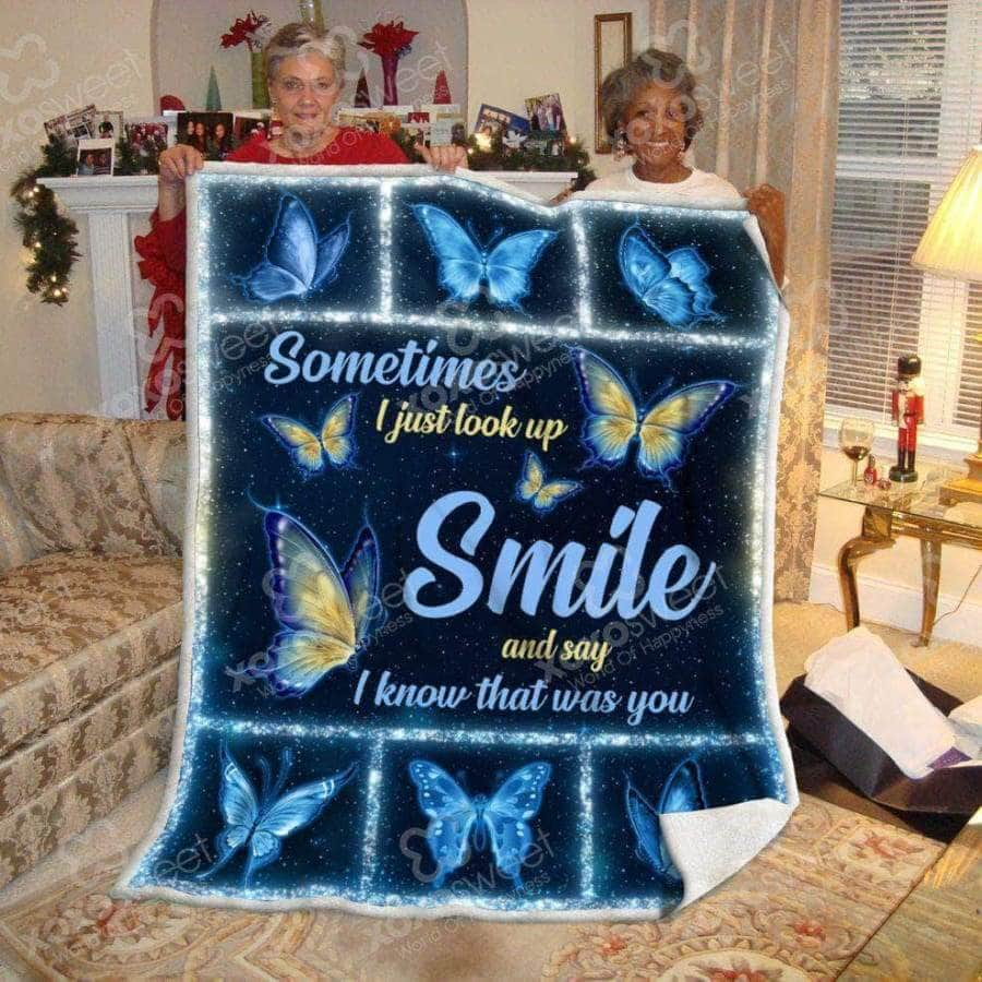 Sometimes I just look up smile - Premium Blanket