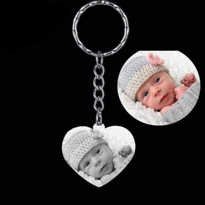 Stainless Steel Custom Photo Keychain