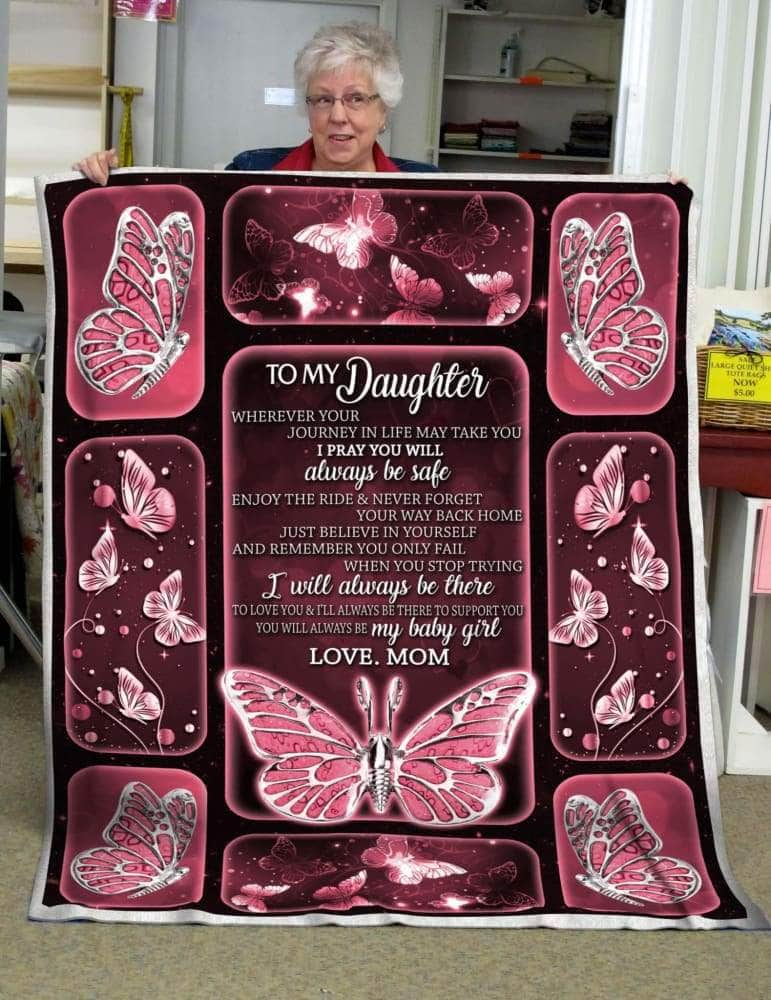 To My Daughter Silver Blanket
