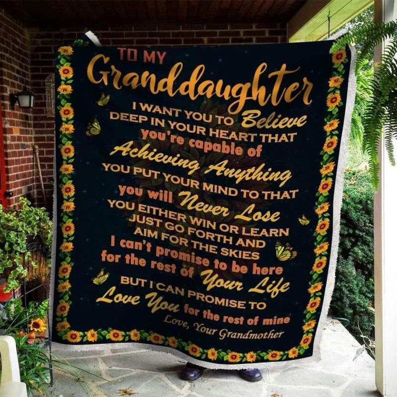 To My Granddaughter - Blanket