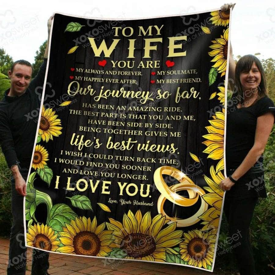 To my Wife Sunshine - Blanket