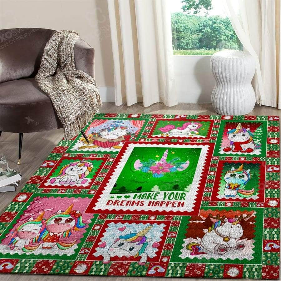 Unicorn Christmas - Area Rug