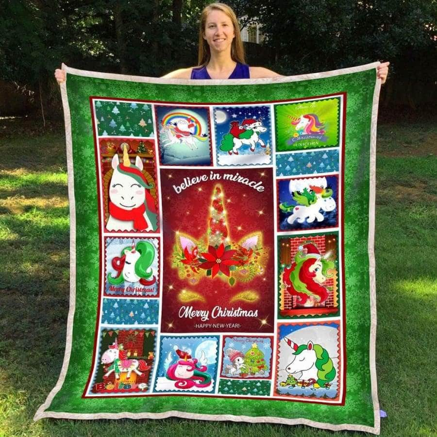 Unicorn Christmas - Blanket