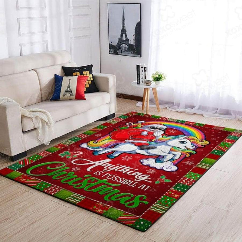 Unicorn Santa Claus - Area Rug