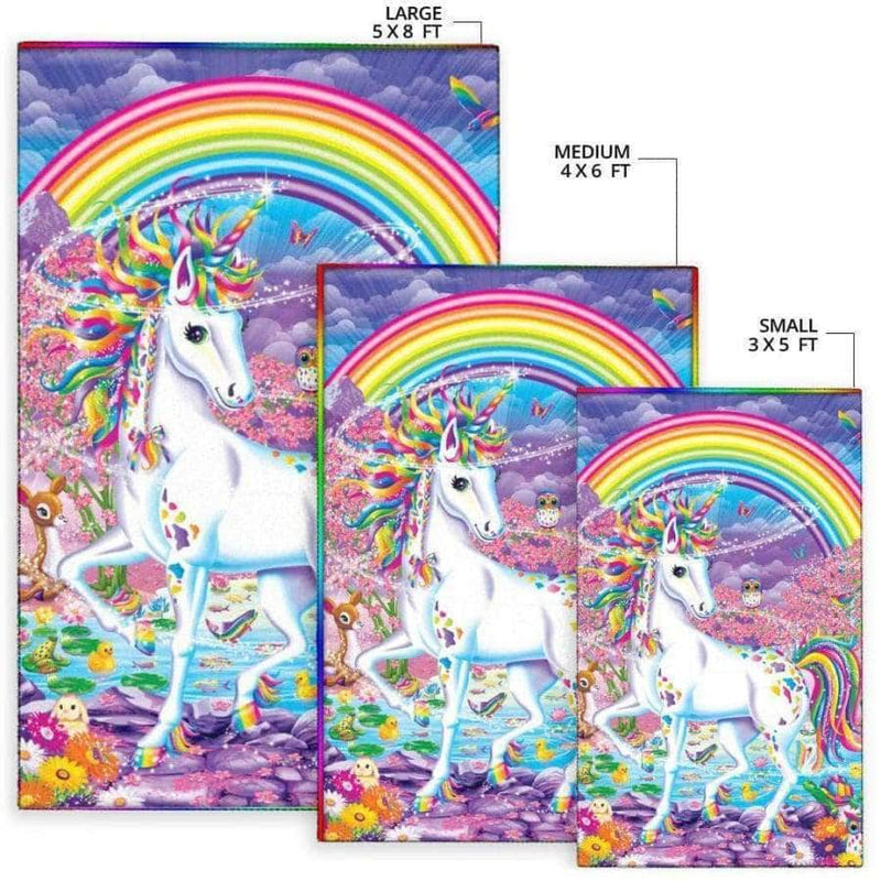 Unicorn With Rainbow - Area Rug