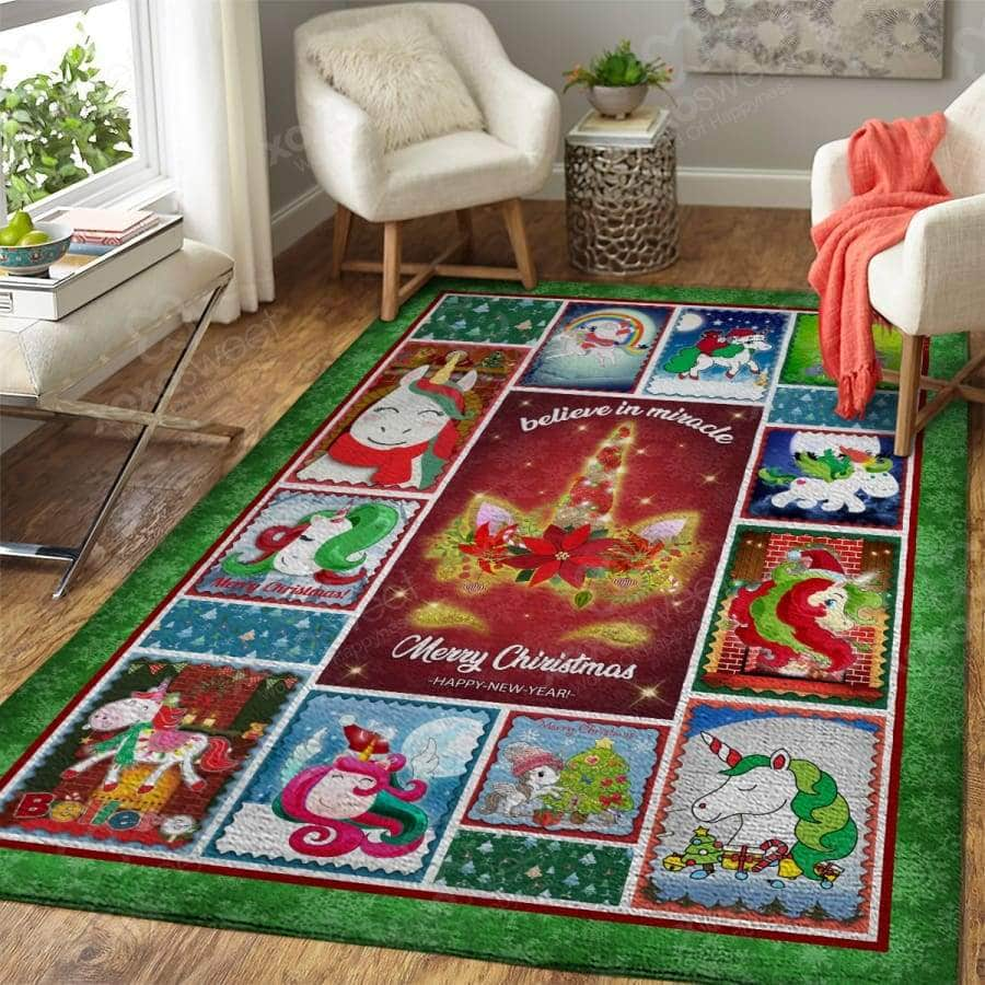 Unicorn Xmas - Area Rug