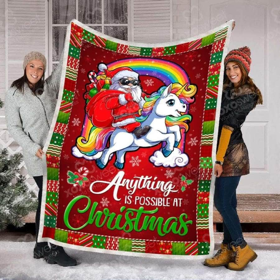 Unicorn Xmas - Blanket