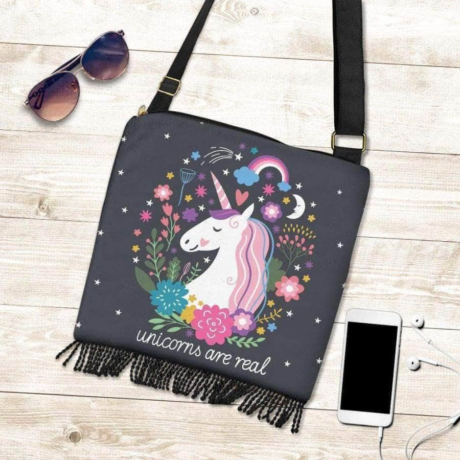 Unicorns Are Real - Boho Hanbag