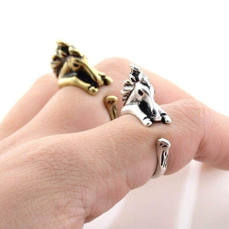 Vintage Horse Wrap Ring Jewelry