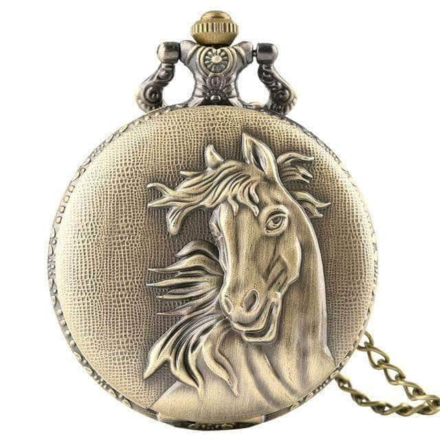 Vintage Pocket Watch Retro Horse 8 styles