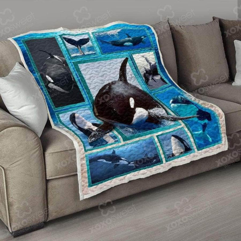 WHALE ORCA Quilt