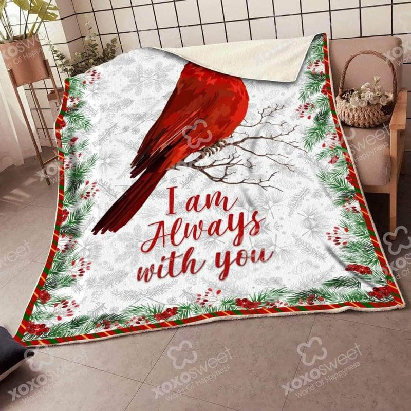 White Cardinal Bird - Blanket