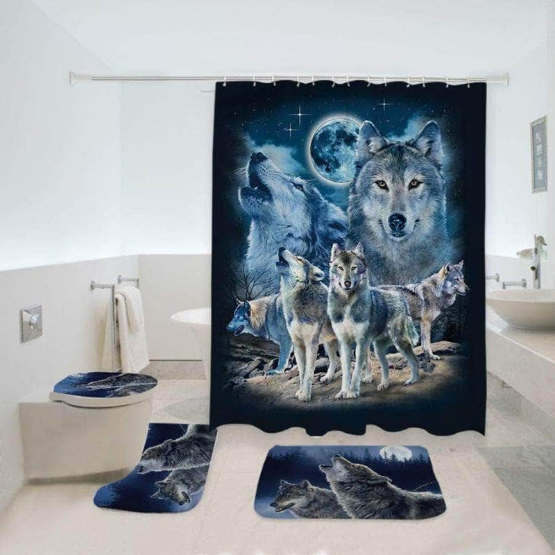 Wolf Bathroom Set
