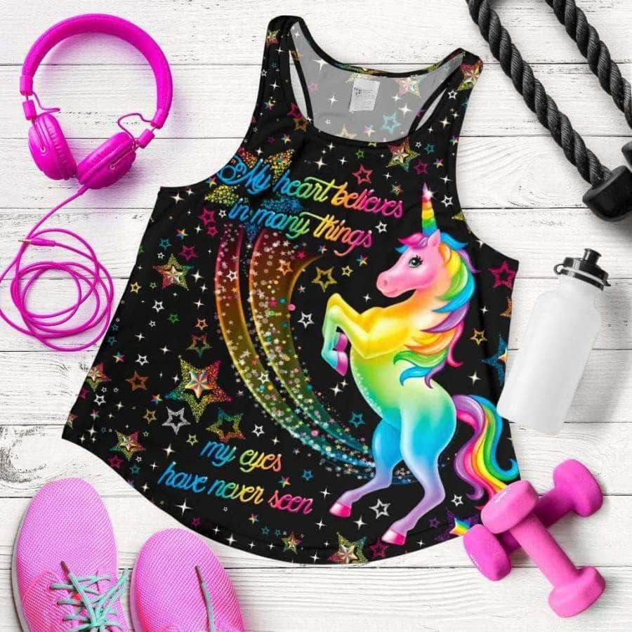 Women's Racerback Tank - Unicorn