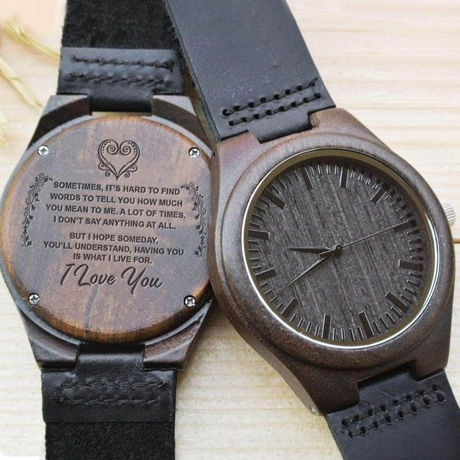 WOOD WATCH - I LOVE YOU.