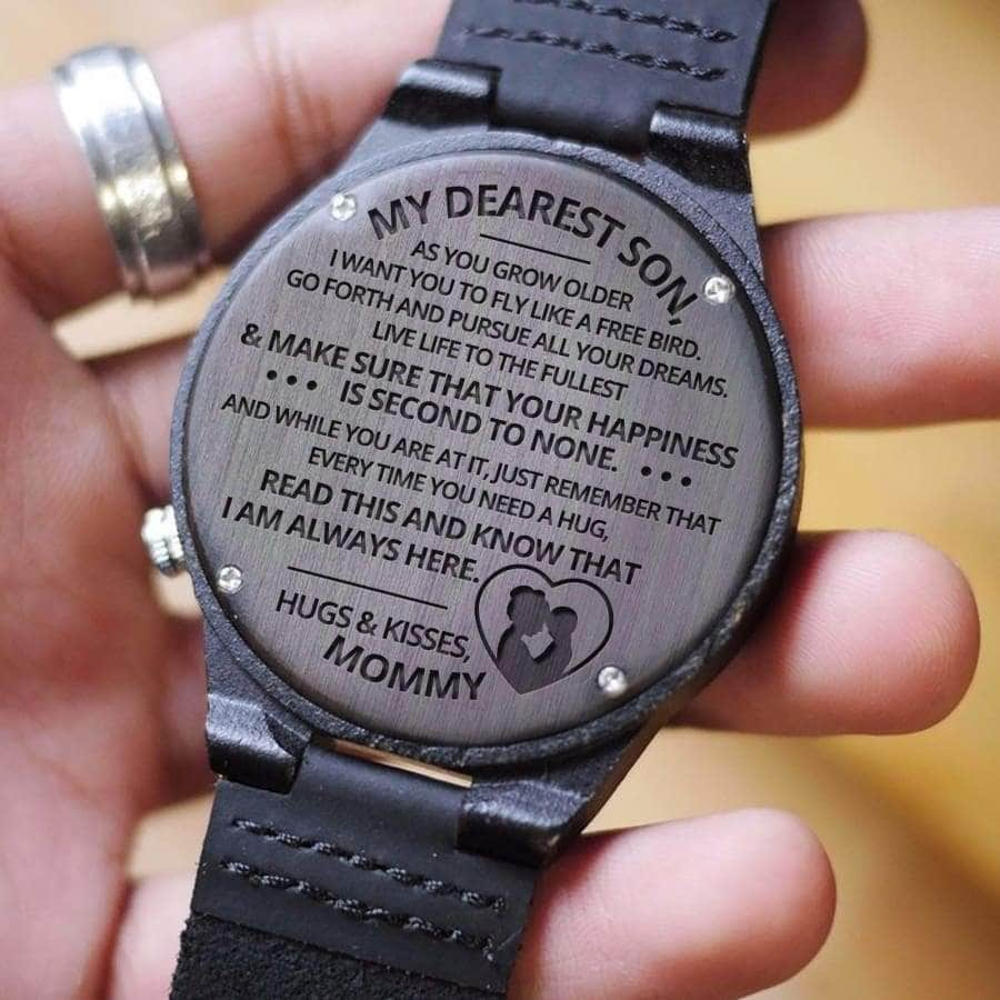 Wooden Watch - MY DEAREST SON, I AM ALWAYS HERE