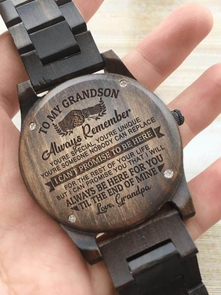 Wooden Watch - TO MY GRANDSON I WILL ALWAYS BE HERE FOR YOU