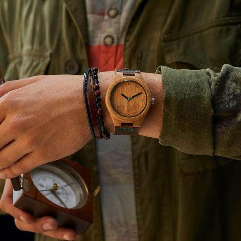 WOODEN WATCH -TO MY HUSBAD I LOVE YOU