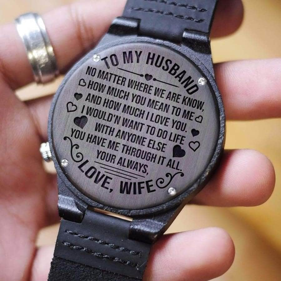 Wooden Watch - TO MY HUSBAND, HOW MUCH I LOVE YOU?