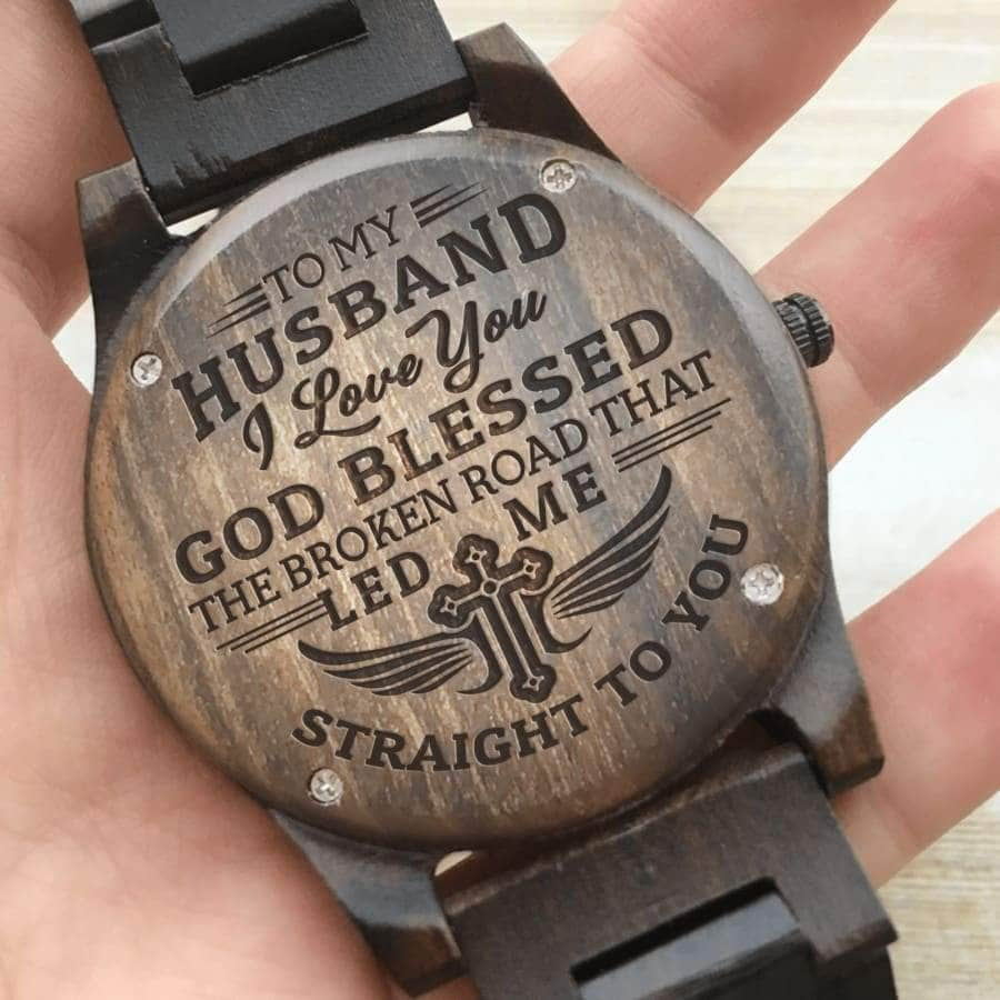 Wooden Watch - TO MY HUSBAND, I LOVE YOU