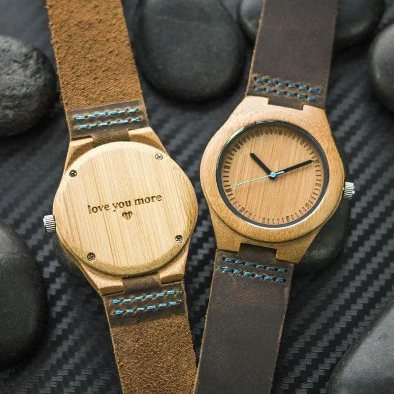 WOODEN WATCH - TO MY HUSBAND NEVER FORGET