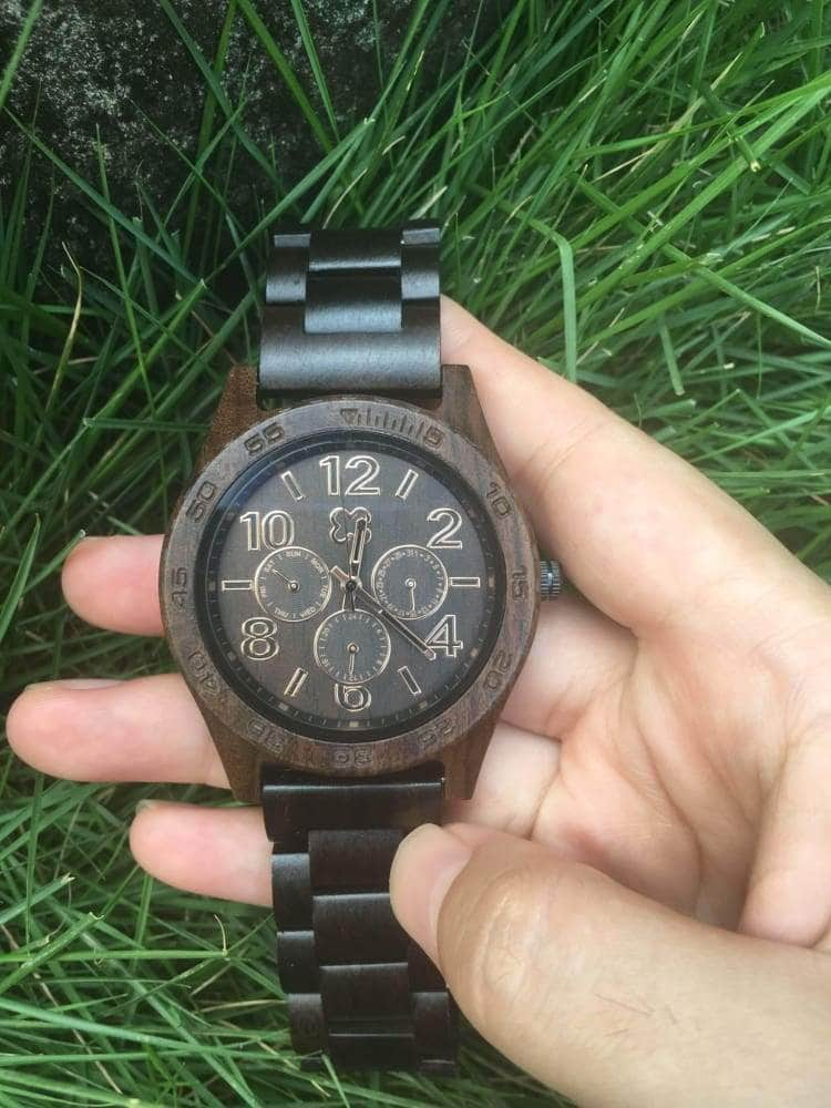 Wooden Watch - TO MY SON CARRY YOU IN MY HEART (DAD)