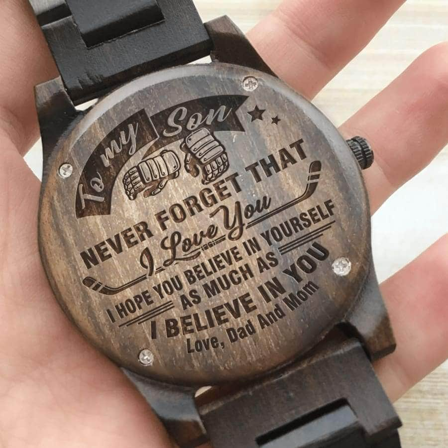 Wooden Watch - TO MY SON, I BELIEVE IN YOU