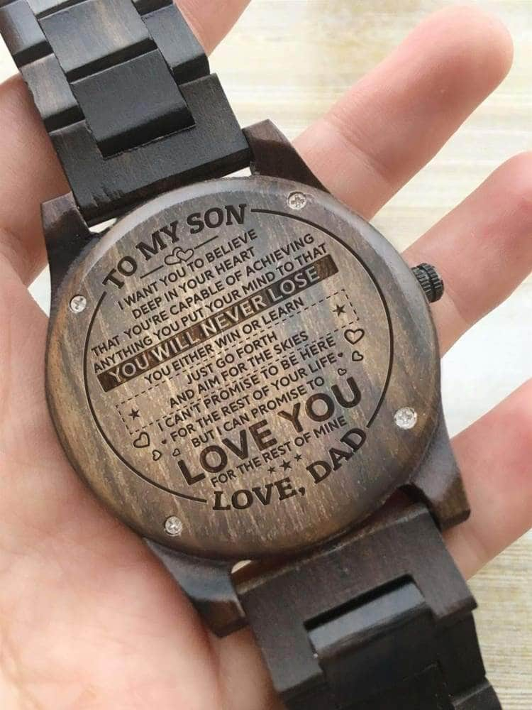 Wooden Watch - TO MY SON I WANT YOU TO BELIEVE (Dad)