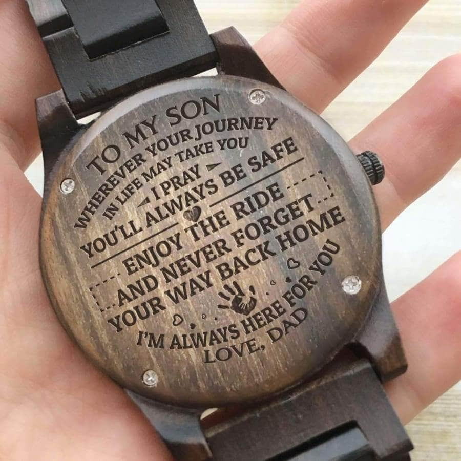 Wooden Watch - TO MY SON IM ALWAYS HERE FOR YOU (DAD)