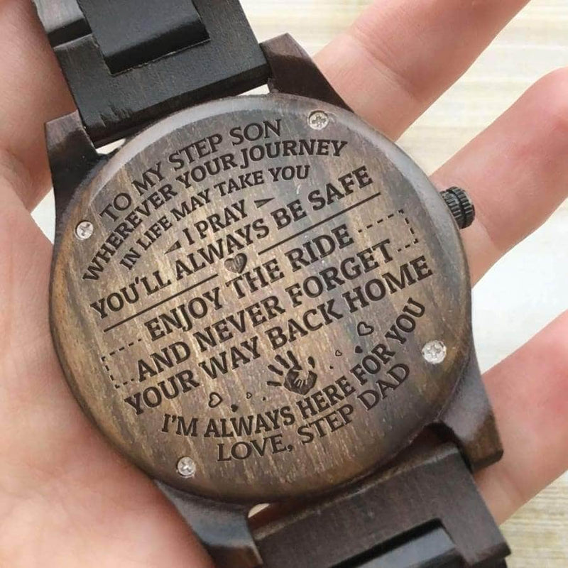 Wooden Watch - To My Step Son Im Always Here For You