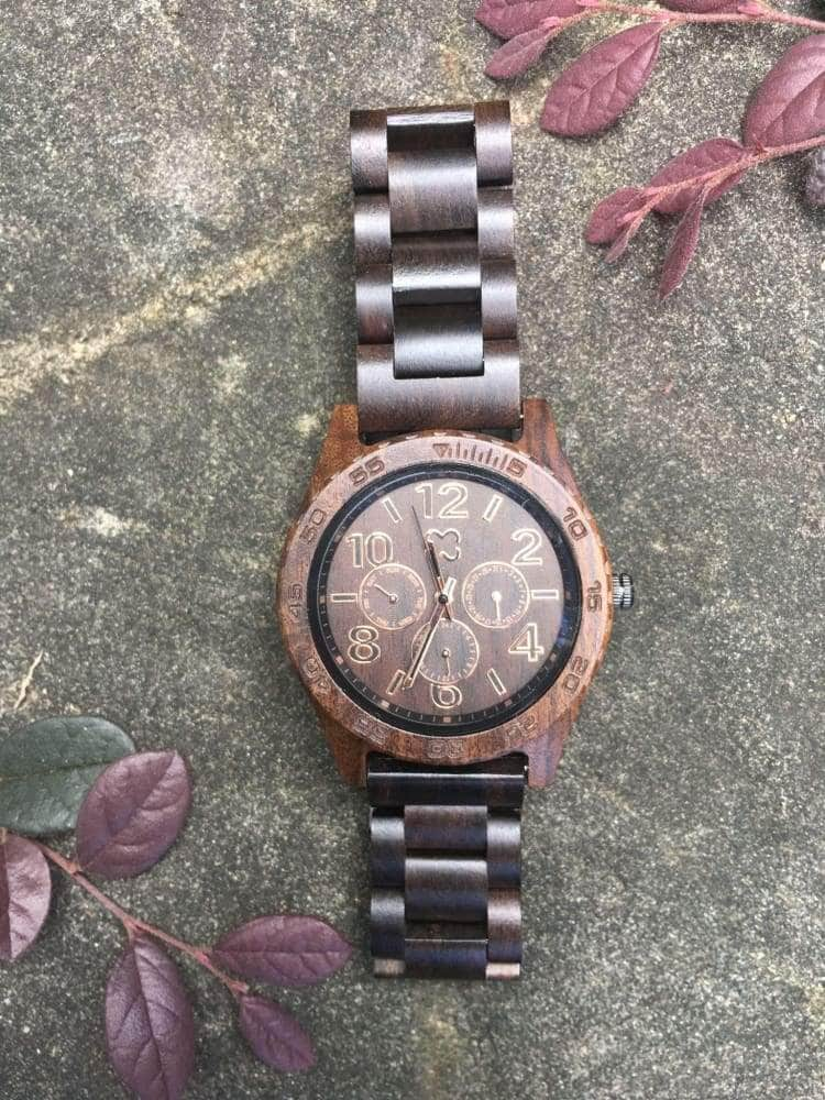 Wooden Watch - To My Step Son You Need To Be Happy