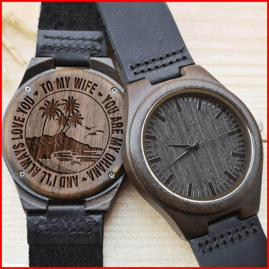 WOODEN WATCH // TO MY WIFE, I LOVE YOU