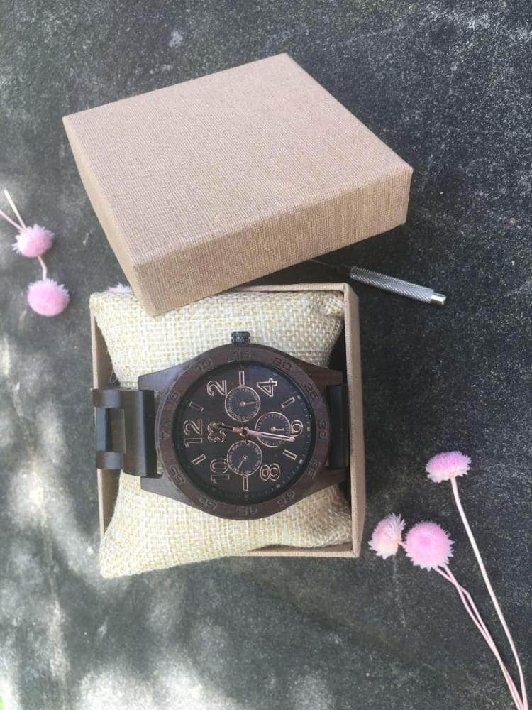 Wooden Watch - TO MY WONDERFUL HUSBAND I LOVE YOU FOREVER