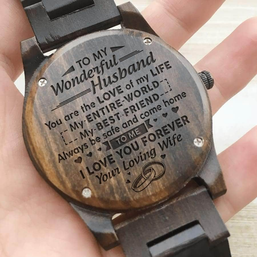 Wooden Watch - TO MY WONDERFUL HUSBAND, I LOVE YOU FOREVER