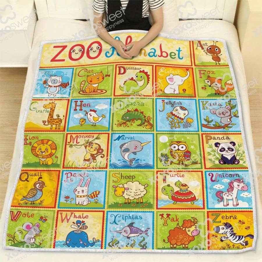 Zoo Alphabet Blanket