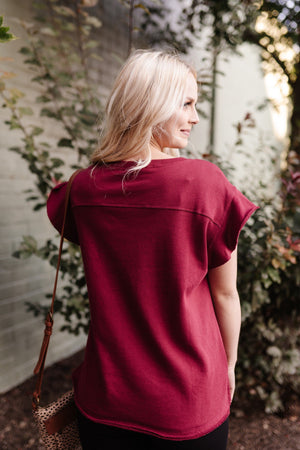 The Real MVP Top In Burgundy