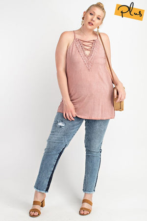 #301 Swingy lace up tunic