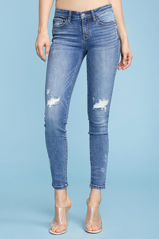 Amy's Distressed Knee Skinny Jeans