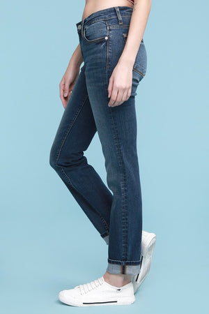 #334 Carla's Cuffed Straight Jeans